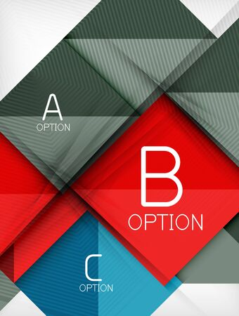 Business squares background design template composition. Glossy shiny rectangle shapes with option infographic text or with promotion message. Vector colorful illustration