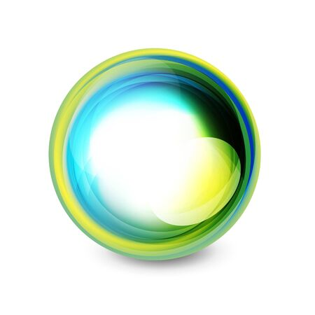 Abstract glass swirl spheres banner 向量圖像