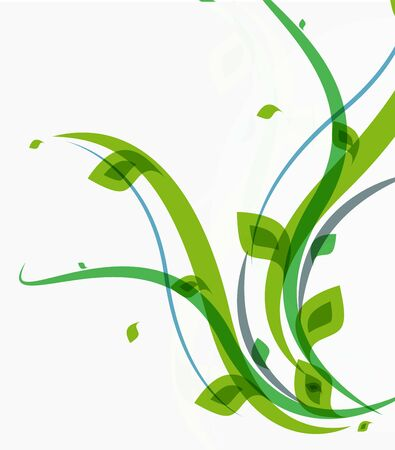 Green leaves pattern background. Ecology modern abstract template Иллюстрация