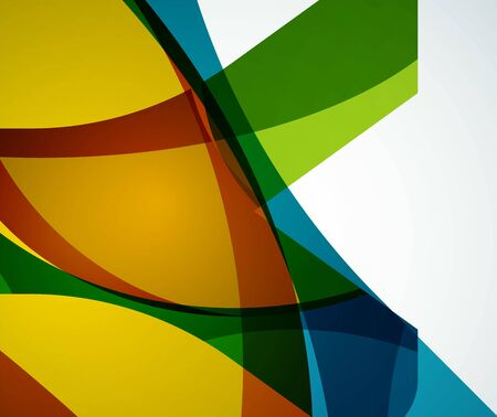 Wave geometric background design template