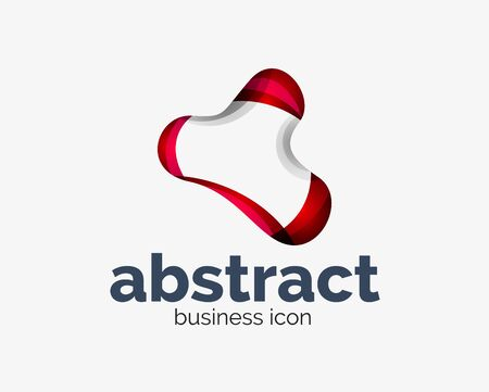 Abstract flowing, business branding line Banque d'images - 134859630