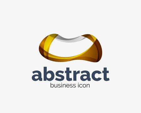Abstract flowing, business branding line Banque d'images - 134859631