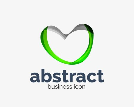 Abstract flowing, business branding line Banque d'images - 134859655