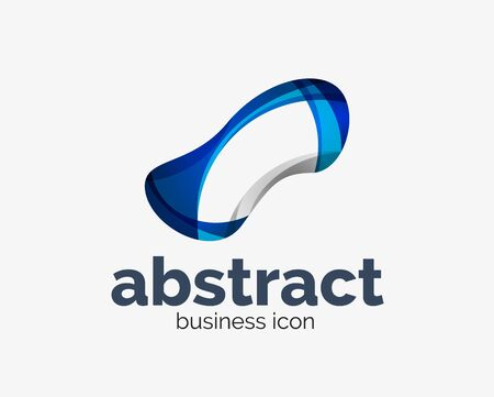 Abstract flowing  business branding line