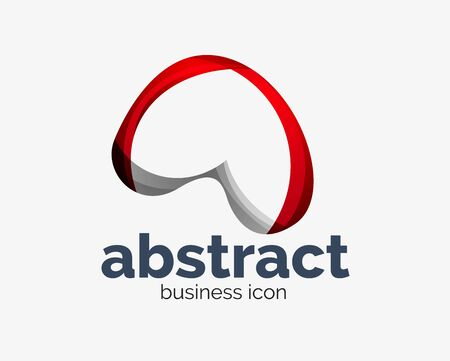 Abstract flowing, business branding line Banque d'images - 134859531