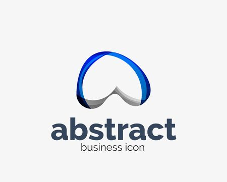 Abstract flowing, business branding line Banque d'images - 134859532