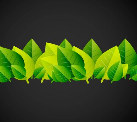 Green leaves pattern background. Ecology modern abstract template. Nature concept