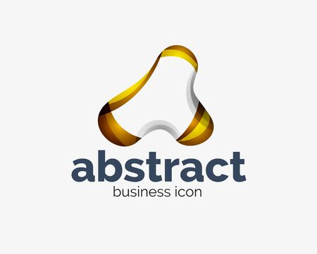 Abstract flowing, business branding line Banque d'images - 134859558