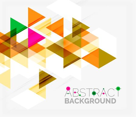 Triangle geometric background design template