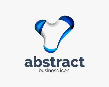 Abstract flowing  business branding line Banque d'images - 134859455
