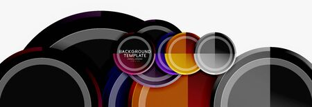 Colorful glossy circles background