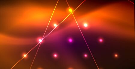 Neon glowing lines, magic energy space light concept, abstract background wallpaper design 일러스트
