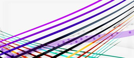 Trendy color stripes lines wave, great design for any purposes. Vector line pattern. Vector geometric background