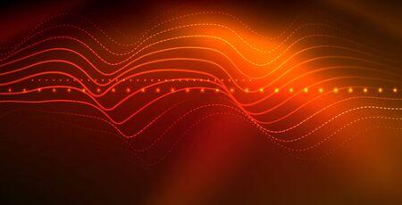 Neon wave background