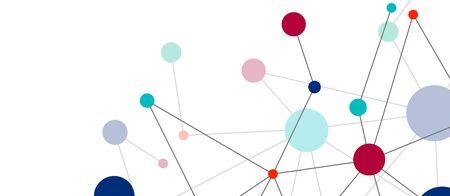 Puntos de línea conexiones fondo abstracto geométrico.