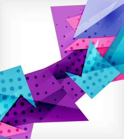Modern origami card. Modern origami design element. Color geometric pattern. Abstract low-poly background. Presentation template. Abstract decorative geometric composition.