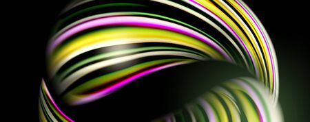 Fluid color waves with light effects, vector abstract background Archivio Fotografico - 133486992