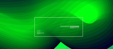 Dynamic fluid neon color wave geometric abstract background. Trendy poster colorful gradients and fluid shapes. For banner, invitation, card, web, ad and promotion. Archivio Fotografico - 133487096