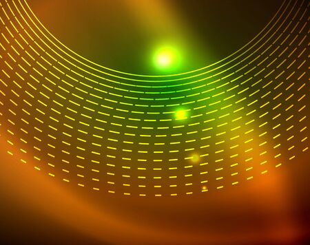 Neon circles abstract background Ilustrace