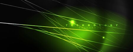 Shiny color neon light with lines, abstract wallpaper, shiny motion, magic space light. Techno abstract background
