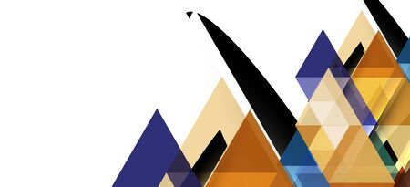 Abstract concept triangle graphic element. Technology background. Banner, poster template Stock fotó - 133487579
