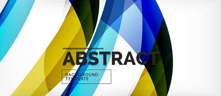 Linear wave web template. Vector illustration bright design. Decorative print. Decorative backdrop vector. Vector business illustration. Line illustration. 向量圖像