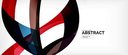 Linear wave web template. Vector illustration bright design. Decorative print. Decorative backdrop vector. Vector business illustration. Line illustration. Ilustração