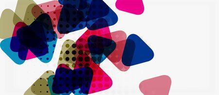 Vector triangle geometric abstract composition background. Retro vector illustration. Ornament illustration. Banner, poster template. Ilustração