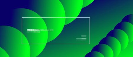 Simple abstract background with neon color circles. Memphis Style Geometric Pattern. Vector Illustration For Wallpaper, Banner, Background, Card, Book Illustration, landing page 일러스트