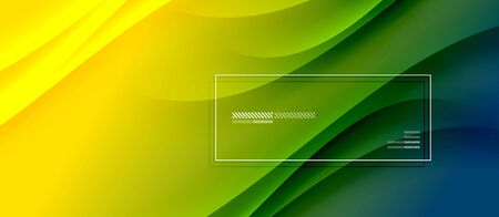 Trendy simple fluid color gradient abstract background with dynamic wave shadow line effect. Vector Illustration For Wallpaper, Banner, Background, Card, Book Illustration, landing page 일러스트