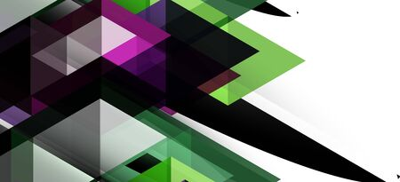 Abstract concept triangle graphic element. Technology background. Banner, poster template. Art vector background futuristic design. Vettoriali