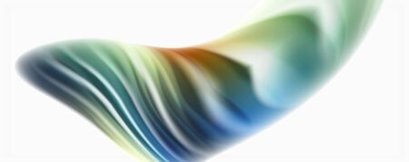 Modern techno Fluid color flow on white colorful poster
