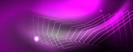 Shiny neon techno template.