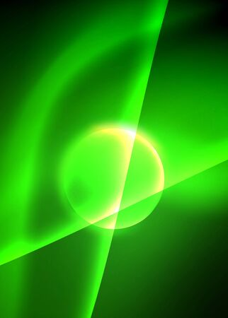 Shiny color bright neon abstract wave template. Abstract bright light. Neon light glowing effect. Space background. Abstract shape Foto de archivo - 133787683