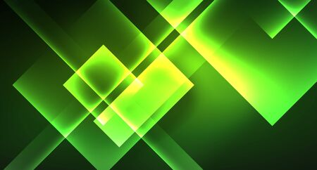 Neon geometric abstract background in hipster style on light background. Space retro design. Color geometric pattern. Square shape abstract background. Foto de archivo - 133787706
