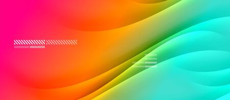 Trendy simple fluid color gradient abstract background with dynamic wave shadow line effect. Vector Illustration For Wallpaper, Banner, Background, Card, Book Illustration, landing page Illustration