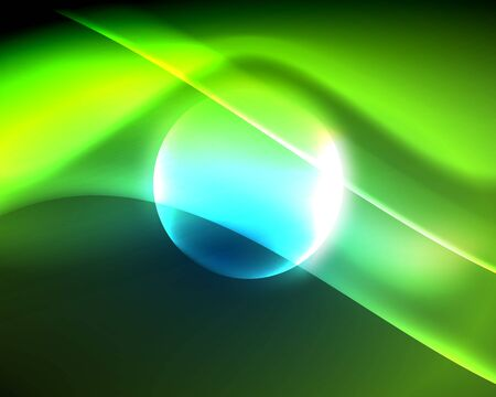 Shiny color bright neon abstract wave template. Abstract bright light. Neon light glowing effect. Space background. Abstract shape Foto de archivo - 133819030