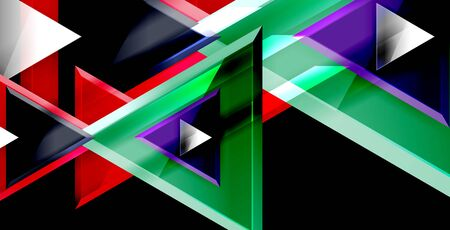 Dynamic triangle composition abstract background Illusztráció