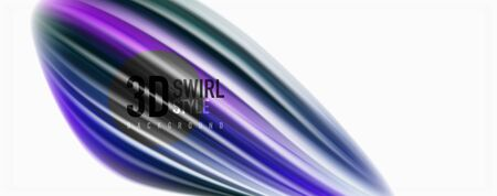 Glossy colorful liquid waves abstract background,, modern techno lines Illusztráció