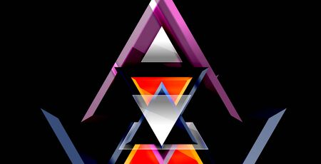 Dynamic triangle composition abstract background, vector illustration Illusztráció