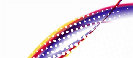 Trendy abstract wave blur pattern, multicolored lines on white background for wallpaper design. Colorful background vector. Creative vector element.
