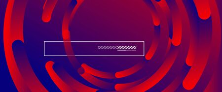 Abstract background. Geometric circles and fluid gradient. Line design, technology hi-tech digital illustration. Vector Illustration For Wallpaper, Banner, Background, Card, Book Illustration