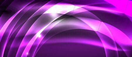 Neon light waves Иллюстрация