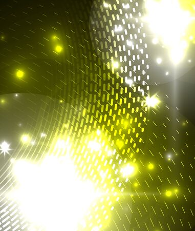 Glowing neon light. Holiday decoration. Abstract neon star background for celebration design.
