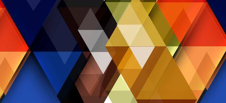 Colorful repeating triangles modern geometric in contemporary style on white background. Abstract geometric shape. Modern stylish texture. Vector abstract graphic design. Ilustração