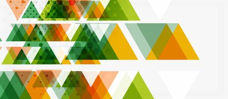 Vector triangle geometric abstract composition background. Retro vector illustration. Ornament illustration. Banner, poster template. Illusztráció