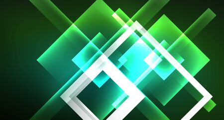 Neon geometric abstract background in hipster style on light background. Space retro design. Color geometric pattern. Square shape abstract background.