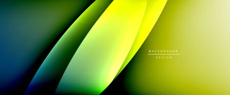 Wave liquid style lines with shadows and light on gradient background. Trendy simple fluid color gradient abstract background with dynamic straight shadow line effect. Vector Illustration For Wallpaper, Banner, Background, Card, Book Illustration, landing page