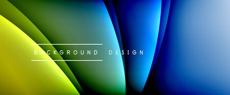 Wave liquid style lines with shadows and light on gradient background. Trendy simple fluid color gradient abstract background with dynamic straight shadow line effect Иллюстрация