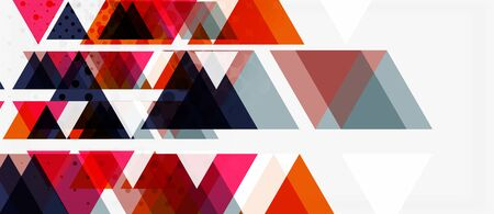 Vector triangle geometric abstract composition background. Retro vector illustration. Ornament illustration